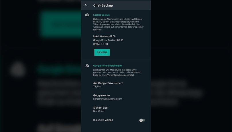 Backup whatsapp ohne ios wiederherstellen chats Wiederherstellen von