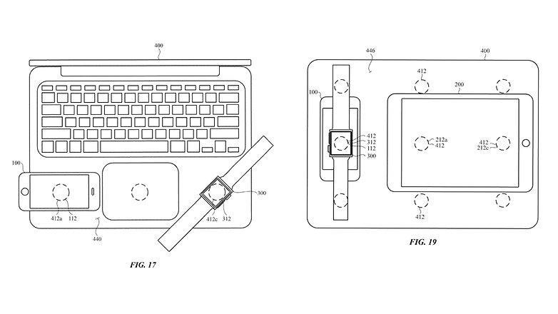 Apple Kabelloses Laden MacBook iPhone Watch iPad Patent
