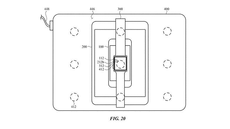 Apple kabelloses Laden Ladestapel Patent