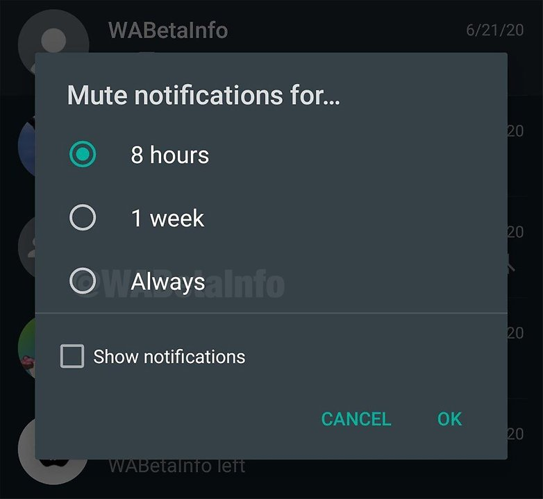 Mute Always Android WABetaInfo