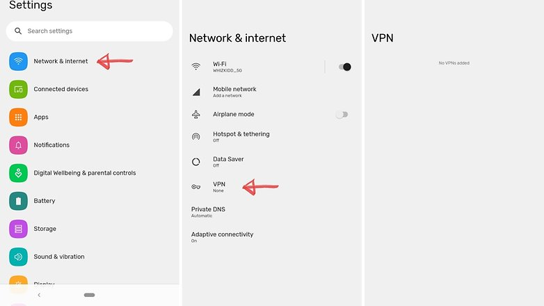 Android disable VPN