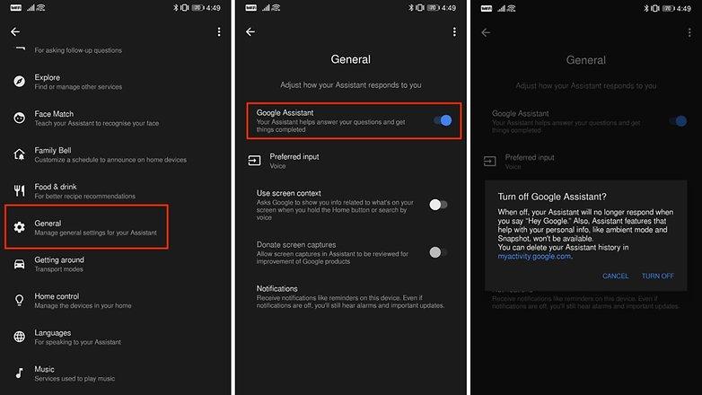 Disable Google Assistant Steps 2