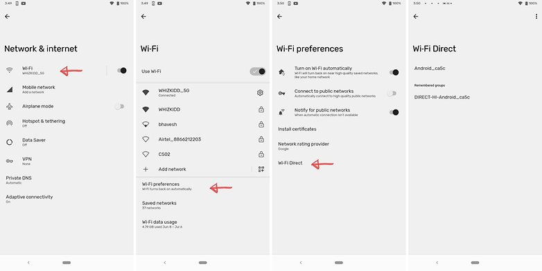 WiFi Direct Android 12