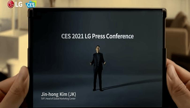 LG na CES 2021: prévia de celular dobrável é apresentada