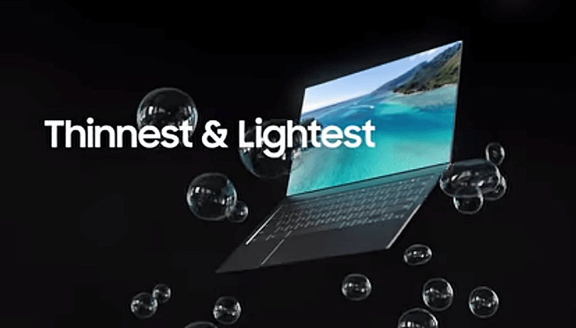 Samsung apresenta notebook com display ultrafino e webcam sob tela