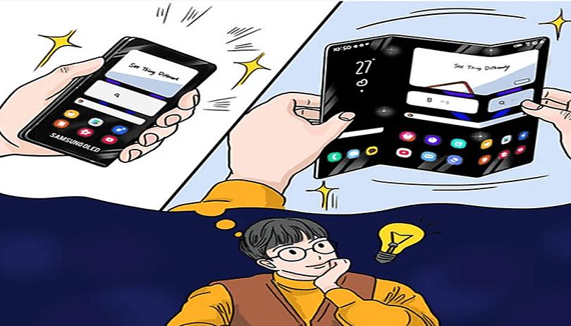Samsung estaria trabalhando em novo celular capaz de ser dobrado em 3 partes