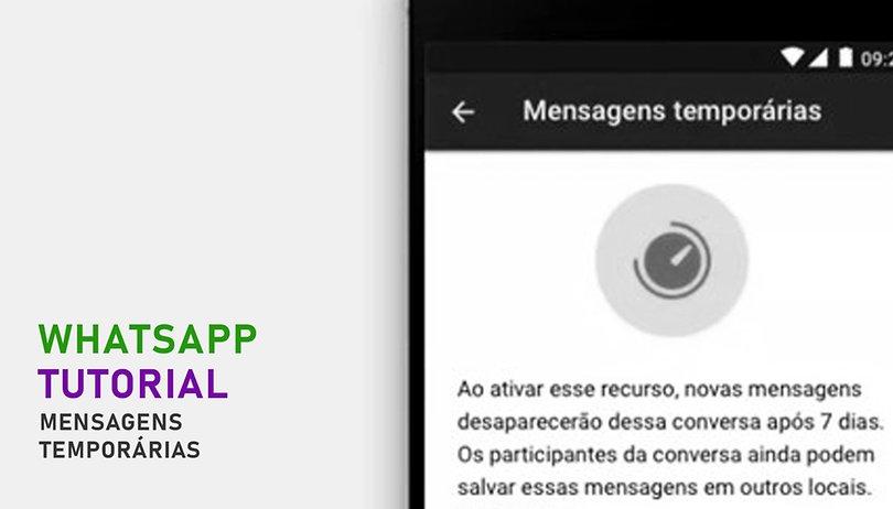 Mensagem temporária no WhatsApp: aprenda e ative no seu aparelho!
