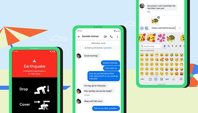 Erdbeben, Emoji Kitchen und Messages: Neue Funktionen für Android