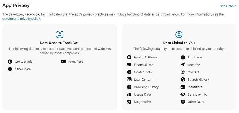 Facebook Data Protection App Store DE
