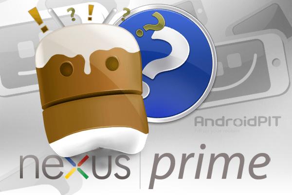 Android ice Cream Sandwich Nexus Prime