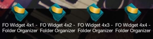 Folder Organizer Widgets