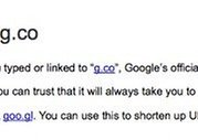Google Goes Even Shorter, Introduces the New URL Shortcut g.co