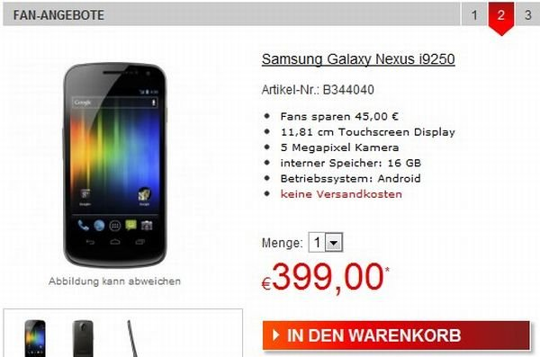 Galaxy Nexus Deal