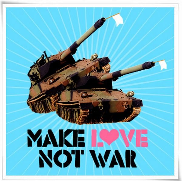 Mae love, not war!