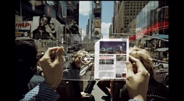 Samsung 3D Amloed transparent Tab