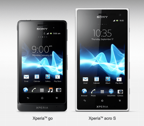 Sony Xperia acro S and go
