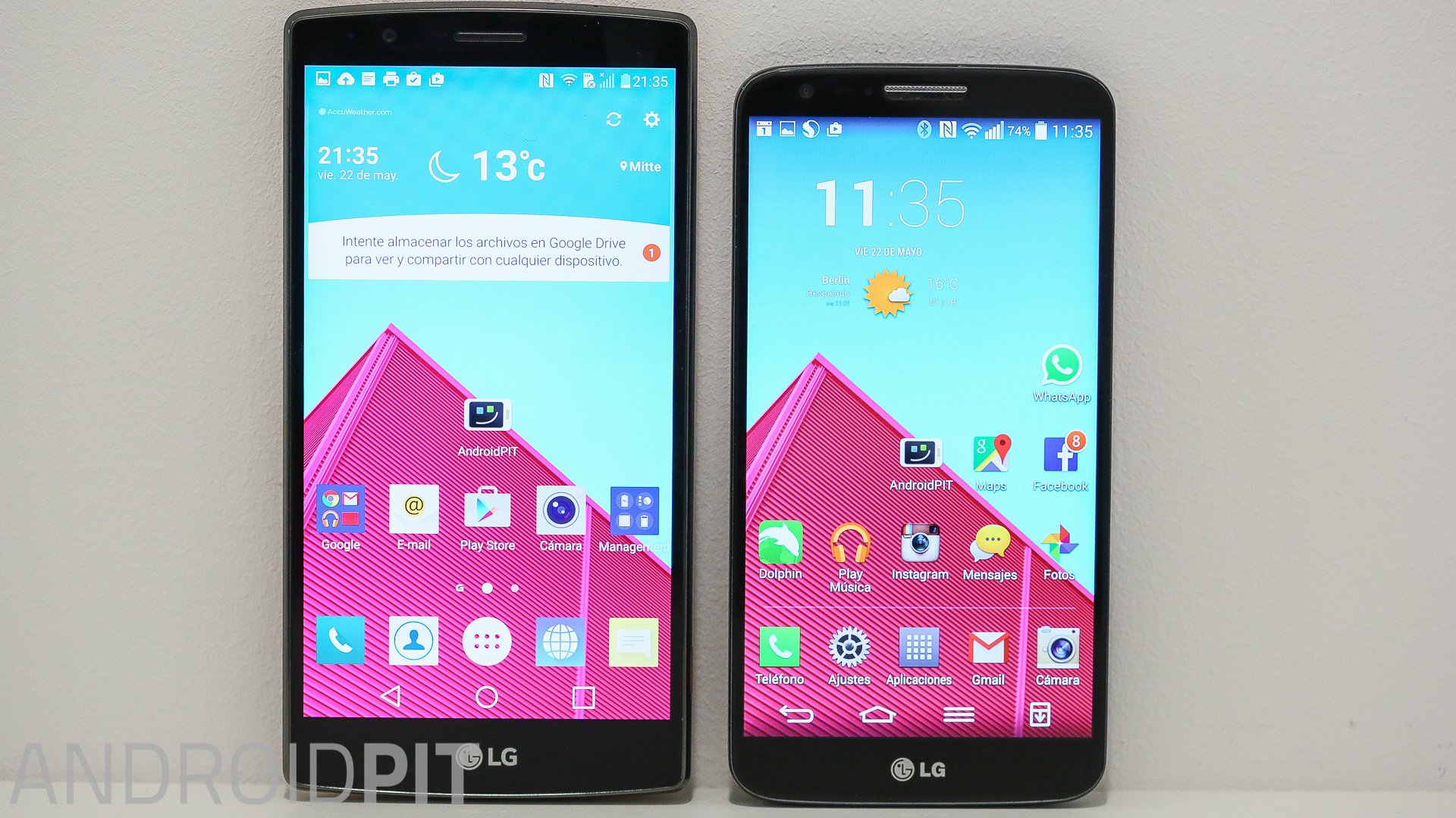 lg g4 vs lg g2 zwei smartphone giganten im vergleich androidpit. Black Bedroom Furniture Sets. Home Design Ideas