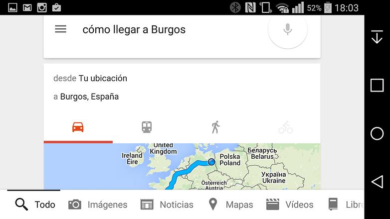 mapa googlenow