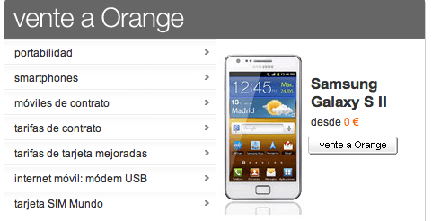 orange portabilidad samsung galaxy