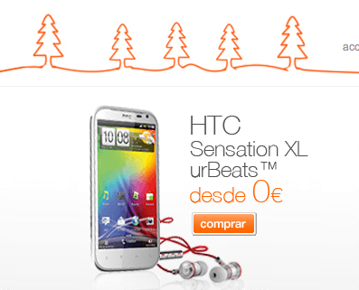 htc sensation con orange
