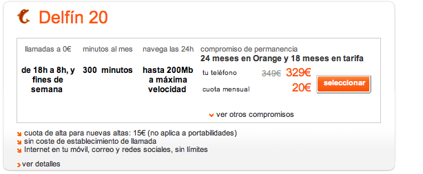 Samsung Galaxy 2 con orange