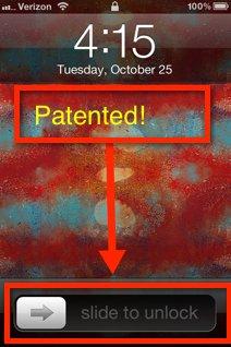 Apple patenta su desbloqueo
