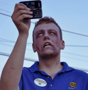 Texting Zombie