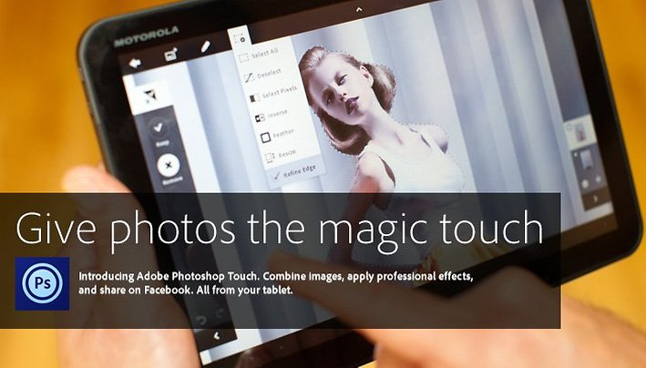 [Video]Photoshop Touch – Real Photoshop Functionality For Android