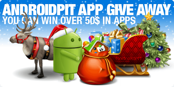 AndroidPIT App Give Away Christmas Graphic