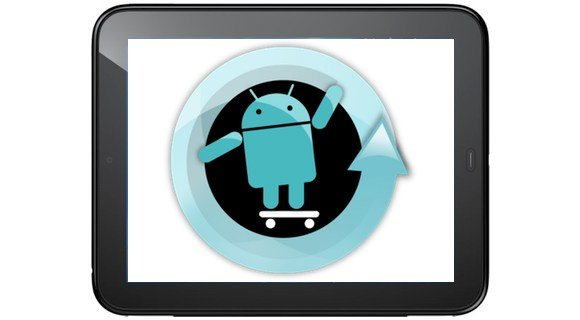 Touchpad with Android logo