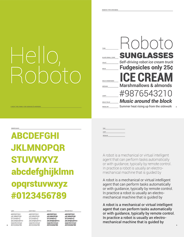 Roboto sample text