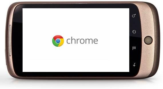Google's Chrome browsers running on Android Mobile OS