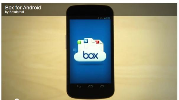 Box Cloud storage for Andorid