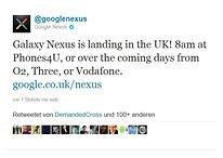 Samsung Galaxy Nexus Has Launched In UK According GoogleNexus Twitter