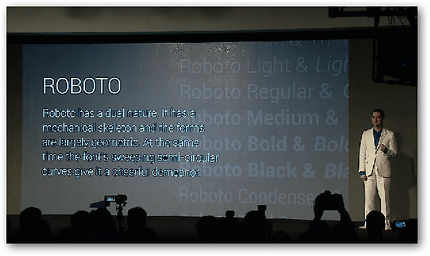 Roboto presentation from Google